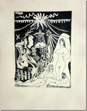 Pablo Picasso, Etching And Aquatint 1968