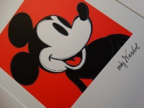 Andy Warhol, Mickey Mouse ,plate Signed, Hand Numbered