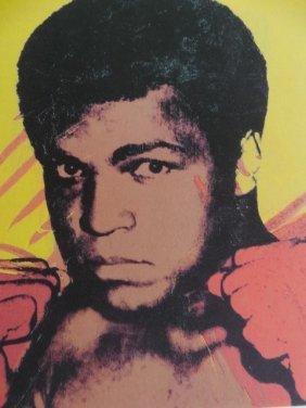Andy Warhol Plate Signed And Hand Numbered,muhammad Ali