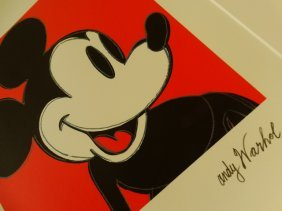 Andy Warhol, Mickey, Plate Signed And Hand Numbered