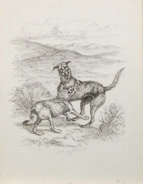 Margaret S. Johnson (1893-1964) American. Ink Drawing.