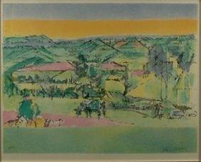 Jacques Villon 1875-1963 French. Color Lithograph,