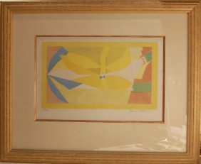 Jacques Villon 1875-1963 French. Color Lithograph.