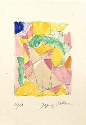Jacques Villon (1875-1963) French. Color Lithograph,