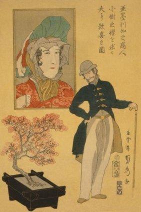 Sadahide Utagawa - American Merchant Delighted With