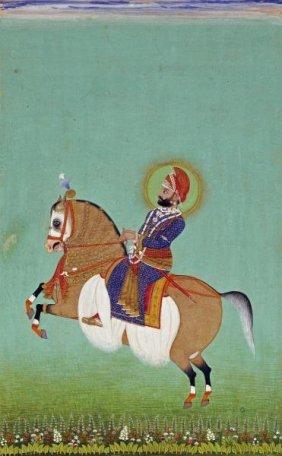 Shiva - Equestrian Portrait Of Maharana Sarup Singh