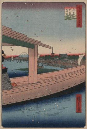 Ando Hiroshige - Distant View Of Kinryuzan Temple And