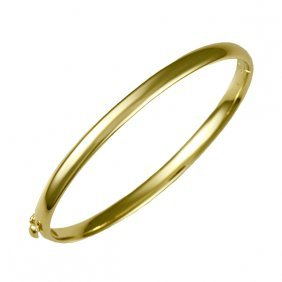 14kt Yellow Solid Bangle 4.8mm