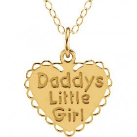 14kt Yellow Daddy's Little Girl 15 Necklace
