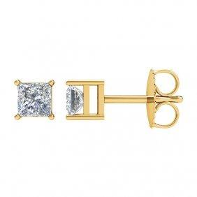 14kt Yellow 1/3 Ctw Diamond Earrings