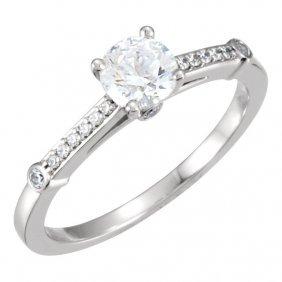 Continuum Silver 1/8 Ctw Diamond Semi-mount Engagement