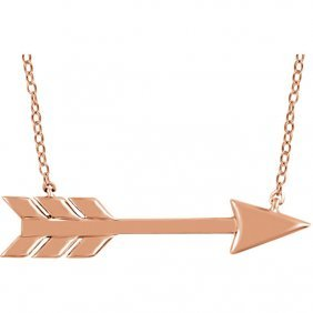 14kt Rose Arrow 18 Necklace