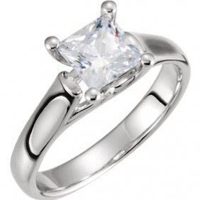 Continuum Sterling Silver 1/4 Ctw Diamond 4-prong
