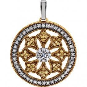 Diamond Ferris Wheel Design Pendant