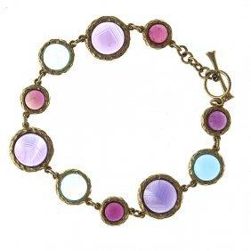 14kt Yellow Bracelet Multi-color