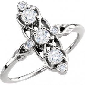 14kt Yellow 1/5 Ctw 3-stone Diamond Ring
