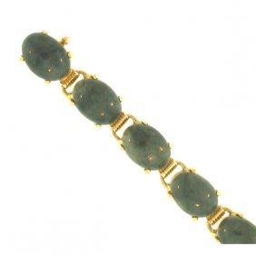 Natural Grey Jade Bracelet