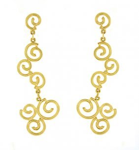 14kt Yellow Earring Curly
