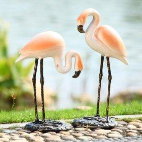 Stylish Garden Flamingo Pair