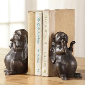 Smiling Bunny Bookends
