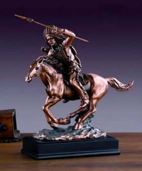 Bronze Indian Chief On Horse