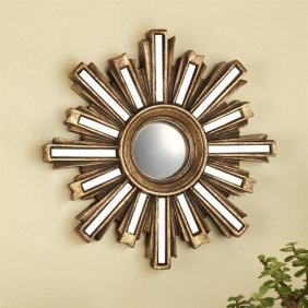 Gold Deco Sunburst Wall Mirror