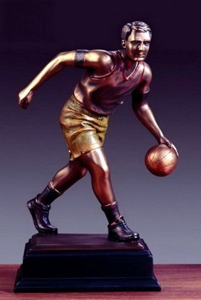Bronze Basketball Player