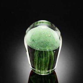 Art Glass Green Jellyfish Glow In The Dark