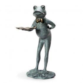 Frog Butler Garden Table / Birdfeeder