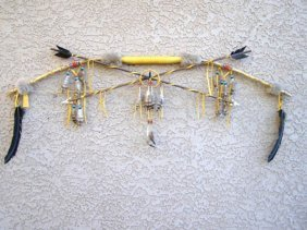 Native American Navajo Made Fancy Bow And Arrows