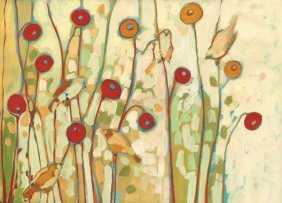 Jennifer Lommers. Five Little Birds Playing Amongst