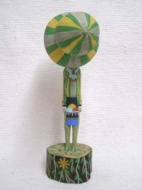 Native American Hopi Carved Squash Chief Katsina Doll