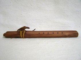 Native American Navajo Made Cedar Drone Flutes--f Sharp