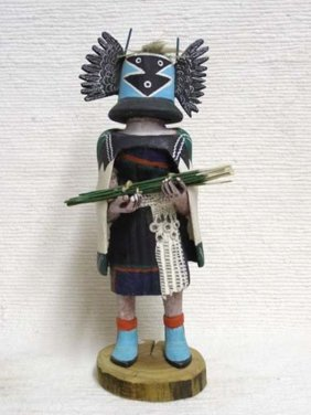 Antique Native American Hopi Carved Crow Mother Katsina