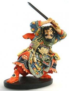Samurai With Sword Of 108 Heroes By Utagawa Kuniyoshi