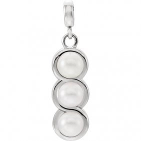 14kt White Freshwater Cultured Pearl Pendant