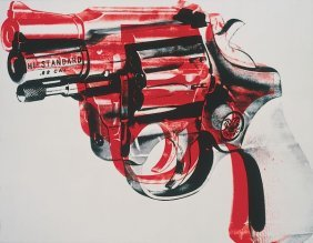 In The Manner Of Andy Warhol. Gun, C. 1981-82 (black