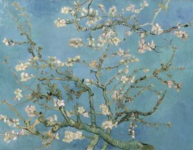 In The Manner Of Vincent Van Gogh. Almond Blossom,