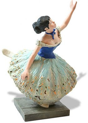 Danseuse Verte Green Ballerina Dancer Statue After