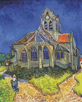 In The Manner Of Vincent Van Gogh. The Church At