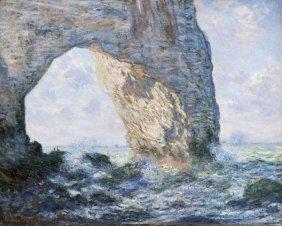 In The Manner Of Claude Monet. La Manneporte