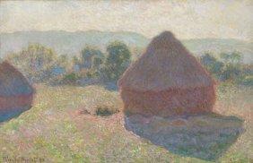 In The Manner Of Claude Monet. Haystacks, Midday, 1890