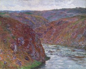 In The Manner Of Claude Monet. Valley Of The Creuse