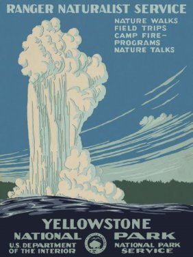 Vintage Reproduction. Yellowstone National Park