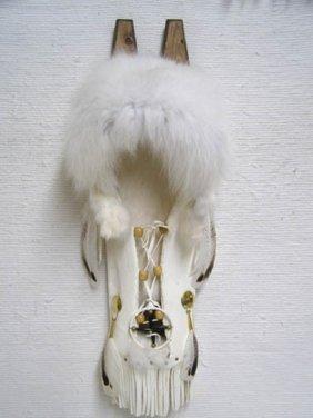 Native American Cherokee Made Arctic Fox Cradleboard