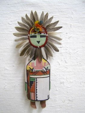 Old Style Hopi Carved Sunface Traditional Powerful