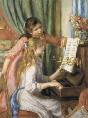 Pierre-auguste Renoir. Two Young Girls At The Piano