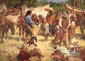 Howard Terpning - The Horse Doctor And His Medicine Bag