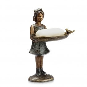 Polite Young Girl Soap/card Holder