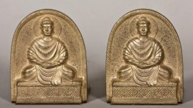 Pair Of Gilt Bronze Bookends